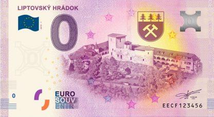 0 Euro Souvenir bankovka - Liptovský Hrádok 2019-1