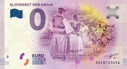 0 Euro Souvenir bankovka - Slovenský deň kroja 2019-1