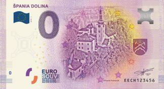 0 Euro Souvenir bankovka - Špania dolina 2019-1