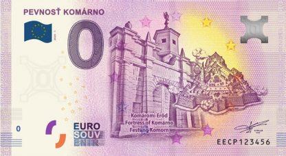 0 Euro Souvenir bankovka - Pevnosť Komárno 2020-1