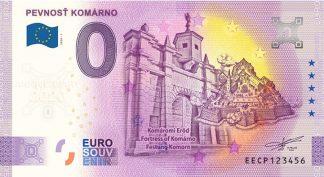 0 Euro Souvenir bankovka - Pevnosť Komárno 2020-1 - ANNIVERSARY 2020