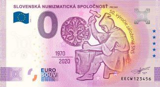 0 Euro Souvenir bankovka - Slovenská numizmatická spoločnosť 2020-1