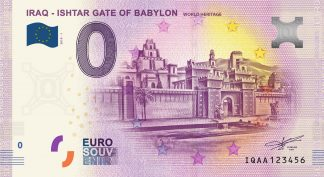 0 Euro Souvenir bankovka - IRAQ - ISHTAR GATE OF BABYLON - WORLD HERITAGE 2019-1