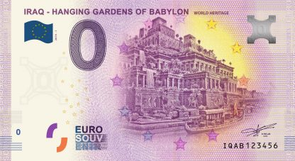 0 Euro Souvenir bankovka - IRAQ - HANGING GARDENS OF BABYLON - WORLD HERITAGE 2019-1