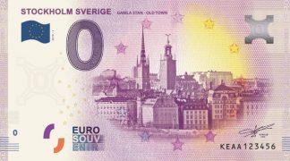 0 Euro Souvenir bankovka - STOCKHOLM SVERIGE GAMLA STAN - OLD TOWN 2019-1