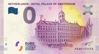 0 Euro Souvenir bankovka - NETHERLANDS - ROYAL PALACE OF AMSTERDAM 2019-1