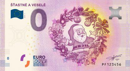 0 Euro Souvenir bankovka - Šťastné a veselé 2019-1
