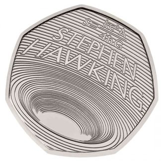 CELEBRATING THE LIFE OF STEPHEN HAWKING 2019 UK 50p BU - reverz