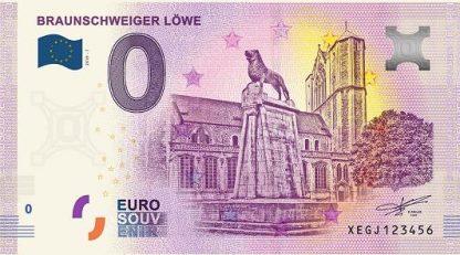 0 Euro Souvenir bankovka - BRAUNSCHWEIGER LÖWE 2019-1