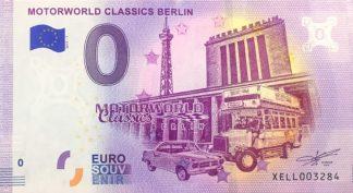 0 Euro Souvenir bankovka - MOTORWORLD CLASSICS BERLIN 2018-1
