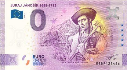 0 Euro Souvenir bankovka - JURAJ JÁNOŠÍK 1688-1713 | 2020-1