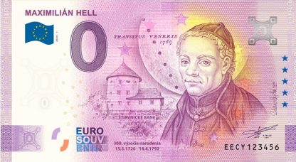 0 Euro Souvenir bankovka - MAXIMILIÁN HELL 2020-1
