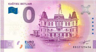 0 Euro Souvenir bankovka - KAŠTIEĽ BETLIAR 2020-1 - ANNIVERSARY 2020