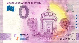 0 Euro Souvenir bankovka - MAUZÓLEUM ANDRÁSSYOVCOV 2020-1 - ANNIVERSARY 2020