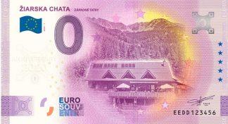 0 Euro Souvenir bankovka - ŽIARSKA CHATA 2020-1 - ANNIVERSARY 2020
