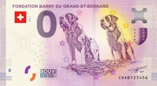 0 Euro Souvenir - FONDATION BARRY DU GRAND-ST-BERNARD 2018-2