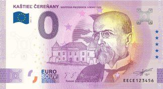 0 Euro Souvenir - KAŠTIEĽ ČEREŇANY - NÁVŠTEVA PREZIDENTA V ROKU 1923 - TOMÁŠ GARRIGUE MASARYK 2021-2