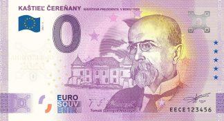0 Euro Souvenir - KAŠTIEĽ ČEREŇANY - NÁVŠTEVA PREZIDENTA V ROKU 1923 - TOMÁŠ GARRIGUE MASARYK 2021-2 - ANNIVERSARY 2020