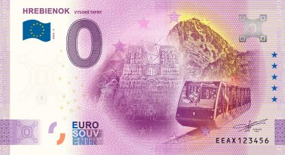 0 Euro Souvenir - HREBIENOK - VYSOKÉ TATRY 2020-2