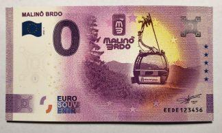 Magnetka s motívom 0 Euro Souveníru Malinô Brdo