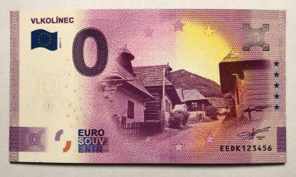 Magnetka s motívom 0 Euro Souveníru Vlkolínec