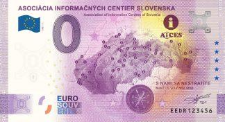 0 Euro Souvenir - ASOCIÁCIA INFORMAČNÝCH CENTIER SLOVENSKA 2021-1