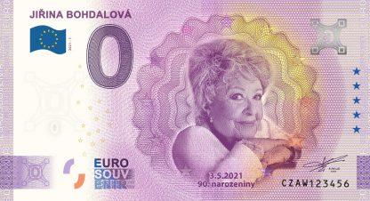 0 Euro Souvenir - JIŘINA BOHDALOVÁ - 90. narozeniny 2021-1