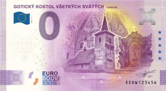 0 Euro Souvenir - GOTICKÝ KOSTOL VŠETKÝCH SVÄTÝCH - LUDROVÁ 2021-4 - ANNIVERSARY 2020