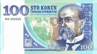 GÁBRIŠOVKA - 100 KORÚN ČESKOSLOVENSKÝCH (séria MG000000)