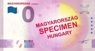 0 Euro Souvenir - MAGYARORSZÁG - SPECIMEN - HUNGARY 2021-1